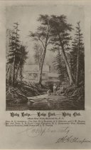 Image of Bisby Lodge. Lodge Park. Bisby Club - Print