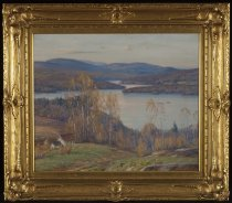Image of Untitled - Blue Mountain Lake From Merwin's - Painting