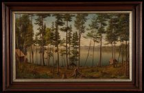 Image of Untitled: Camping At Holland House, Blue Mountain Lake, New York - Painting