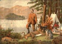 Image of View On Saranac Lake Adirondack. - Print