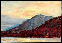 Image of Upper Lake At Dusk (Ausable) - Painting
