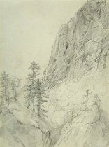 Image of Indian Pass, Adirondacks - Drawing