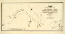 Image of Map of the winter road from Eagle Bay...to Big Moose Station.... - D.C. Wood, surv.