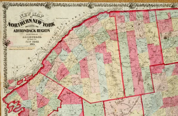Map Of Northern New York.New Map Of Northern New York Including The Adirondack Region