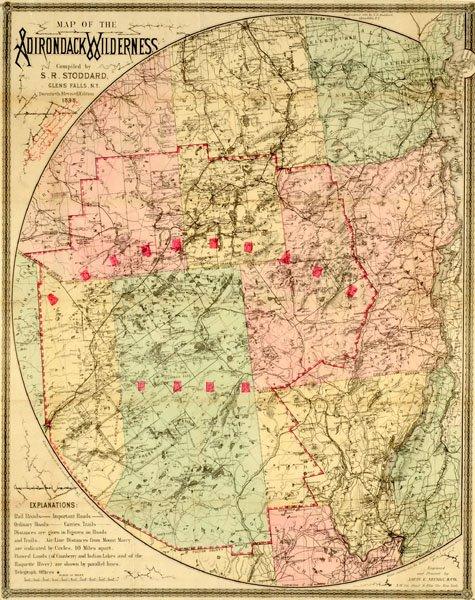 Map of the Adirondacks - Stoddard, Seneca Ray Map Adirondacks on new york map, pinckney chain of lakes map, great sacandaga lake map, binghamton map, ny map, boston map, watertown map, gunks map, cape cod map, philadelphia map, plattsburgh map, colorado scenic drives map, mount marcy trail map, essex chain lakes map, albany map, saranac lake map, hiking map, lake placid map, long island map, schenectady map,