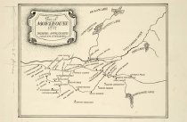 Image of Town of Morehouse Showing Approximate Location of Residents 1871 -
