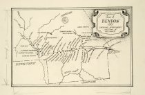 Image of Town of Benson showing approximate location of residents 1861 -