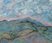 Image of Haystack from Marcy with Colvin, Nippletop, and Dix - Painting
