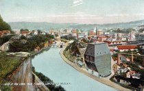 "Image of View of Erie Canal from ""Lover's Leap,"" Little Falls, N.Y. - Postcard"