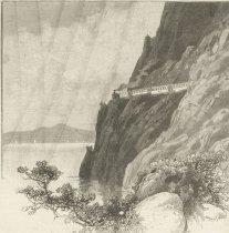 Image of Eisenbahn am Ufer des Sees - Print