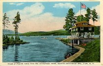 Image of Head of Fourth Lake from the Arrowhead Hotel, Central Adirondack Mts., Inlet, N.Y. - Postcard