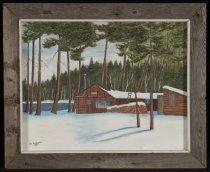 Image of Untitled: Adirondack Camp - Painting