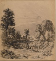 Image of Lake George - Near Caldwell - Drawing