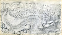 Image of [Chuting the Rapids, Eagle Falls] - Drawing