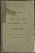 Image of A Discourse on the Character and Death of John Brown : Delivered in Martinsburgh, N.Y. Dec. 12, 1859 / by S. H. Taft ; with an introduction by J. H. Morison, D.D. - Taft, S. H. (Stephen H.)