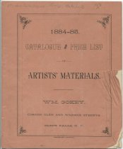Image of 1884-85 Catalogue and Price List of Artists' Materials - Gokey, William