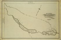 Image of Map of highway from highway at outlet of Blue Mountain Lake to west line of township thirty-four - Wesley Barnes