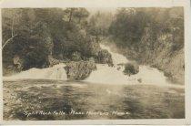 Image of Split Rock Falls.  Near Hunters Home - Print, Real Photo Postcard