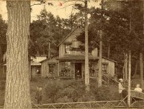"Image of ""Waiting for Dinner"" - Camp Seven Pines - Print, albumen"