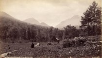 Image of [20]. Ausable Pass, from Beede House, Adirondacks. - photo - mounted; sepia
