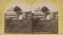 Image of 950. Cascade House, Luzerne. - photo - stereo; mounted; sepia