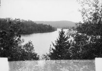 Image of THE BAY FROM TREE TOPS LOOKING PAST STAR LAKE INN. STAR LAKE, N.Y. - Print, contact