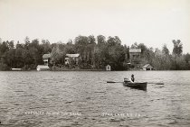 Image of Cottages along the Shore. Star Lake, N.Y. 28. - Print, contact