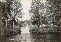 Image of A Pretty Rustic Bridge, Star Lake, N.Y. 29. - Print, contact