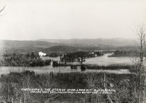 Image of Photo. Shows. the Star-of Star-Lake N.Y. Showing Many Hotels and Cottages. with Benson Mines in Distance. - Print, contact