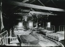 Image of An Up to Date Sleeping Camp, Emporium Lumber Co., Conifer, N.Y. - Print, Gelatin Silver