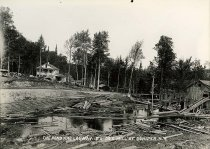 Image of The Pond and Logway, E.L. Co.'s Mill at Conifer, N.Y. - Print, Gelatin Silver