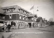 Image of Hotel and Saulsbrry Road, Middleville, N.Y. - photo - mounted; contact print