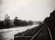 Image of Along the River, Middleville, N.Y. - photo - mounted; contact print
