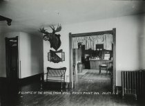 Image of A Glimpse of the Office from Hall, Rocky Point Inn, Inlet, N.Y. - Print, gelatin silver