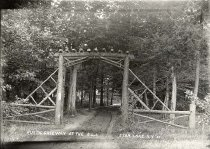 Image of Rustic Gateway at the S.L.I., Star Lake, N.Y. 19. - Print, gelatin silver