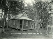 Image of One of the Camps at Camp Wiliwana, Beaver River, N.Y. - Print, gelatin silver