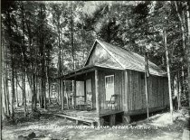 Image of A Cozy Cottage at Wilowana Camp, Beaver River, N.Y. 3. - Print, gelatin silver