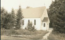Image of Catholic Church, Big Moose, N.Y. 835. - Print, Real Photo Postcard