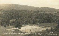 Image of Tennis at Mills Adirondack Camp, Chestertown, N.Y. 467. - Print, Real Photo Postcard