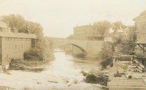 Image of Arch Bridge [?] Keeseville, N.Y. 23. - Print, Real Photo Postcard