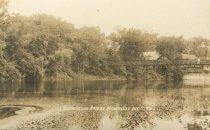 Image of Suspension Bridge  Keeseville N.Y.  24. - Print, Real Photo Postcard