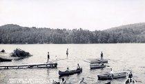 Image of Boating & Bathing, Camp St. Mary, Long Lake, N.Y. 571. - Print, Real Photo Postcard
