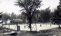 Image of Tennis Court, Camp Redwing, Adirondack on Schroon, N.Y. 24B. - Print, Real Photo Postcard