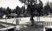 Image of Tennis, Camp Redwing, Adirondack on Schroon, N.Y. 120. - Print, Real Photo Postcard