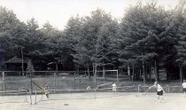 Image of Tennis at Camp Redwing, Adirondack on Schroon, N.Y. 457. - Print, Real Photo Postcard