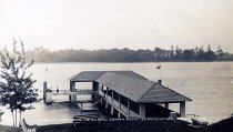 Image of Dock at Champlain Memorial, Crown Point Reservation, N.Y. 605. - Print, Real Photo Postcard
