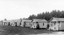 Image of Cabins at Robertson's Won-Der-Vue Lodge, North Hudson, N.Y. 1408. - Print, Real Photo Postcard