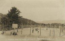 Image of Tennis Courts, Camp Wakonda, Pottersville, N.Y. 4. - Print, Real Photo Postcard