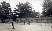 Image of Tennis Courts, Schroon Nahar, Pottersville, N.Y. 129. - Print, Real Photo Postcard