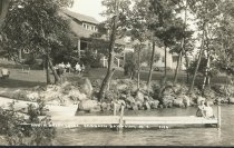 Image of North Brook Lodge, Sabbath Day Point, N.Y. 1106. - Print, Real Photo Postcard
